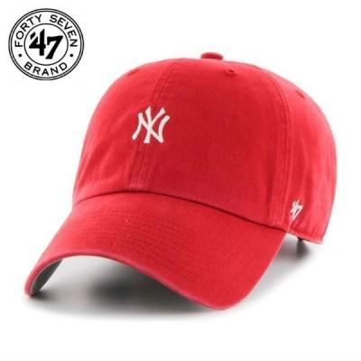 ヤンキース キャップ CAP 47Brand フォーティーセブンブランド Yankees Base Runner レッド メンズ レディース 帽子