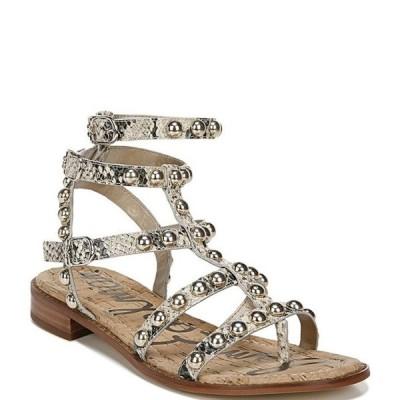 サムエデルマン レディース サンダル シューズ Eavan Studded Snake Print Leather Gladiator Sandals
