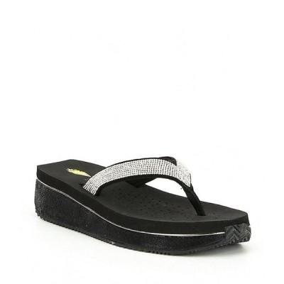 ボラティル レディース サンダル シューズ Eleanor Rhinestone Embellished Wedge Thong Sandals