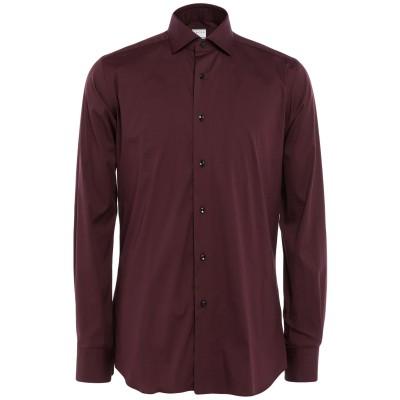 XACUS シャツ ディープパープル 37 コットン 79% / ナイロン 17% / ポリウレタン 4% シャツ