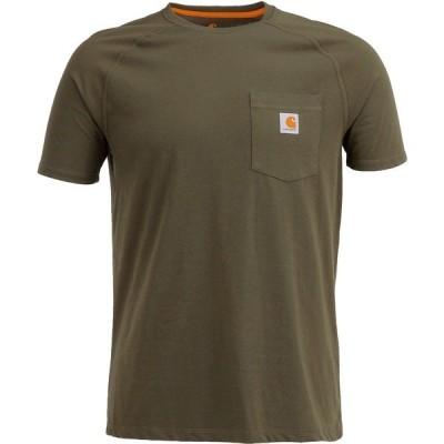 カーハート シャツ トップス メンズ Carhartt Men's Force Cotton Short Sleeve T-shirt Moss