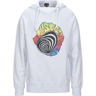 ジャスト カヴァリ JUST CAVALLI メンズ パーカー トップス hooded sweatshirt White