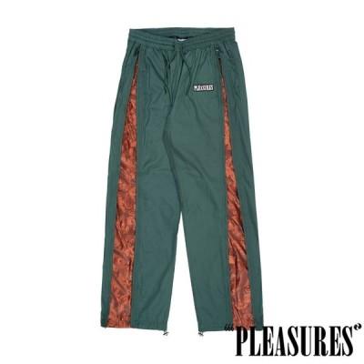【PLEASURES/プレジャーズ】BLAST SIDE ZIP TRACK PANT トラックパンツ / FOREST GREEN