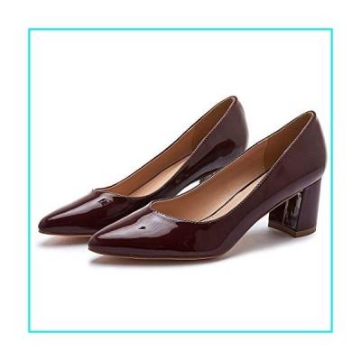 FRACORA Women's Pumps Low Heels Dress Pump Pointed Toe Slip on Stilettos Basic Shoes(Red.8)【並行輸入品】