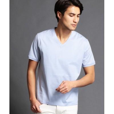 (MONSIEUR NICOLE/ムッシュニコル)シルケットTシャツ/メンズ 64サックス