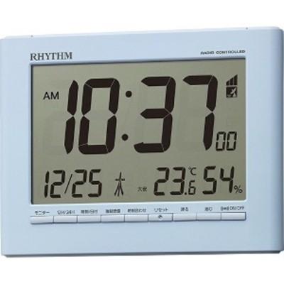 リズム時計工業 デジタル電波時計 フィットウェーブD203 8RZ203SR04 青