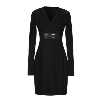 VERSACE JEANS ミニワンピース&ドレス ブラック 40 70% レーヨン 25% ナイロン 5% ポリウレタン ミニワンピース&ドレス