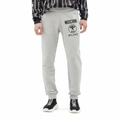 モスキーノ カジュアルパンツ ボトムス メンズ Tonal Detail Cotton Jogger Pants Fantasy Print Grey