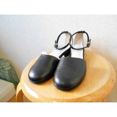 未使用 エフデ ef-de 本革 レザー 歩きやすい ローヒール パンプス 22,5cm