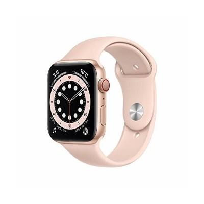 最新 Apple Watch Series 6(GPS + Cellularモデル)- 44mmゴールドアルミニウムケースとピンクサンドスポーツバンド