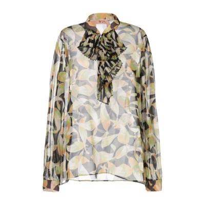 N°21 シルクシャツ&ブラウス  レディースファッション  トップス  シャツ、ブラウス  長袖 ブラック