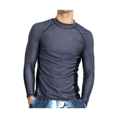 Actleis Mens Long Sleeve Rash Guard, UPF50+ UV Sun Protection Quick Dry Swi