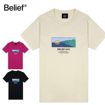 BELIEF NYC  ビリーフ Tシャツ HORIZON TEE メンズ 半袖 tシャツ トップス メール便対応可/BL13