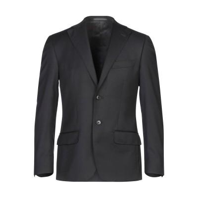 LUIGI BIANCHI Mantova テーラードジャケット ブラック 46 スーパー110 ウール 100% テーラードジャケット