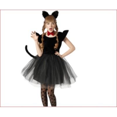 【レディ】プティシャノワール【ネコ】【キャット】【ドレス】【ハロウィン】【コスプレ】【コスチューム】【衣装】【仮装】【集団仮装】
