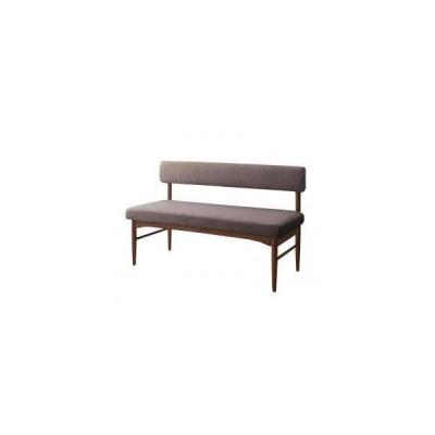ソファー 2人掛け 2人用 ( ブラウン 背もたれ ) 120cm ボックス ファミレス 脚 木製フレーム 木枠 布張り 北欧 モダン デザイナーズ 高級 ミッドセンチュリー