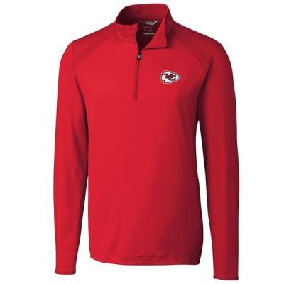 カンザスシティ・チーフス Cutter & Buck Williams Quarter-Zip Pullover ジャケット - Red