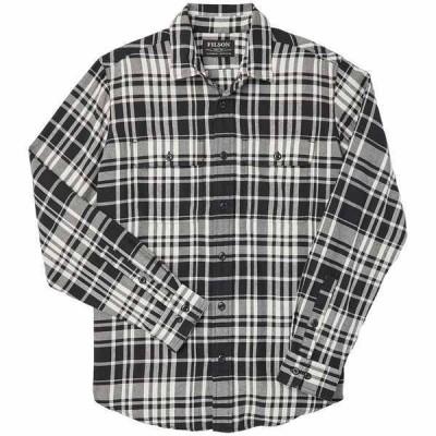 フィルソン メンズ シャツ トップス Filson Scout Shirt Black/Cream Plaid