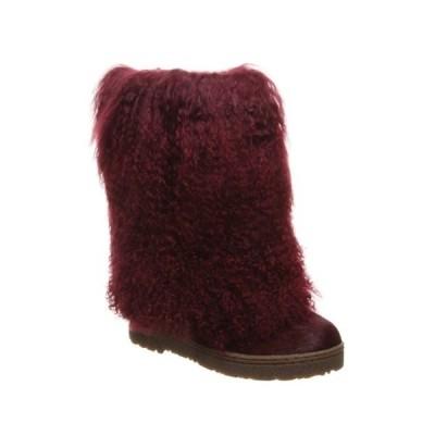 ベアパウ レディース ブーツ&レインブーツ シューズ Boetis II Genuine Sheepskin Short Boot WINE