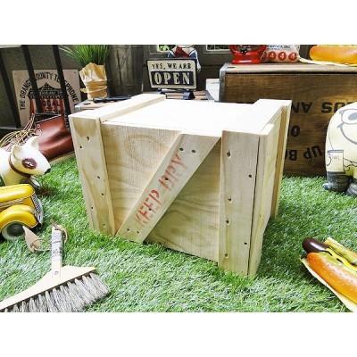 輸出用木箱 -Bタイプ-(無塗装・Sサイズ) アメリカン雑貨 アメリカ雑貨