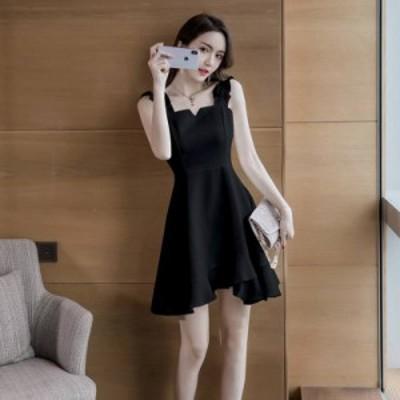 韓国 パーティードレス オルチャン ドレス 結婚式 お呼ばれ ドレス フォーマル ドレス パーティー ドレス 20代 30代 40代 ノースリーブ