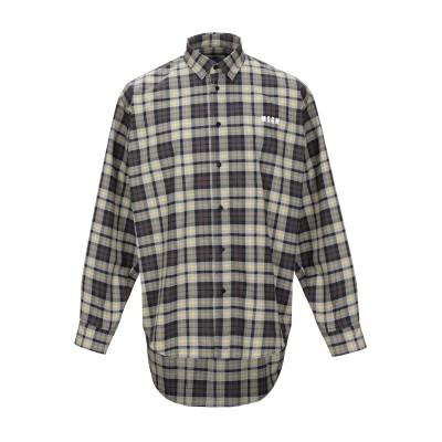 エムエスジーエム MSGM シャツ グレー 39 コットン 100% シャツ