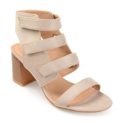 レディース 衣類 トップス Journee Collection Perkin Women's High Heel Sandals Taupe Tシャツ