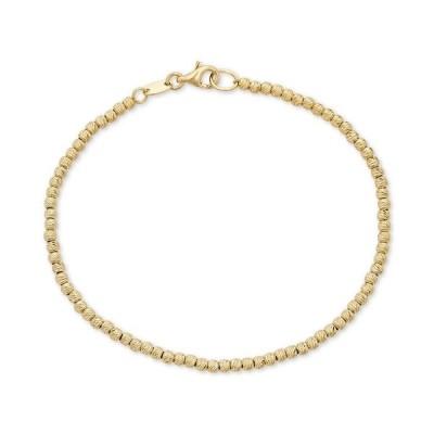 イタリアン ゴールド ブレスレット・バングル・アンクレット アクセサリー レディース Beaded Bracelet in 14k Gold Yellow Gold