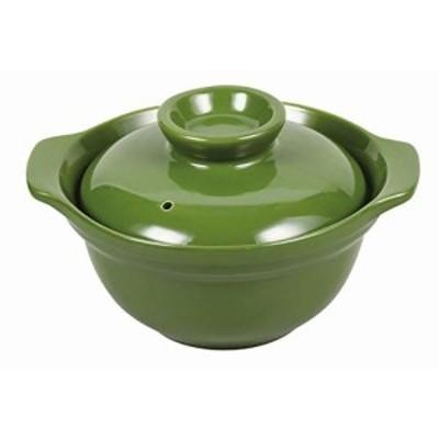パール金属 ご飯も炊ける どんぶり グリーン 1合用 レンジシェフ
