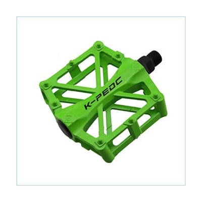 vce2tg MTB Bicycle Pedal Light Weight Aluminum Alloy Die-Casting Pedal for Outdoor Riding Sports Mountain Bike Road Bike Riding Spare Parts Green Spec