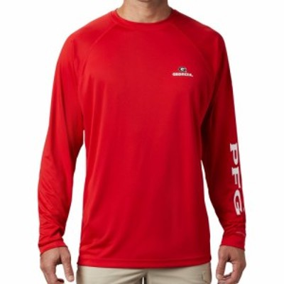 コロンビア Columbia メンズ 長袖Tシャツ トップス Georgia Bulldogs Red Terminal Tackle Long Sleeve T-Shirt