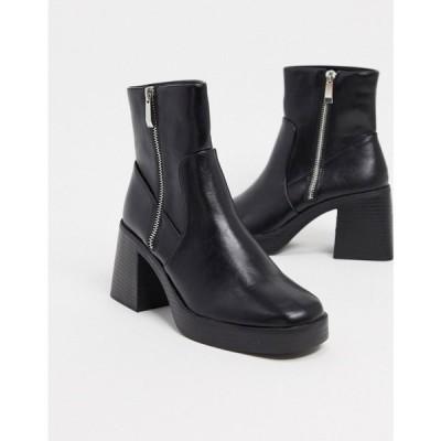 レイド Raid レディース ブーツ ショートブーツ チャンキーヒール シューズ・靴 RAID Leonore chunky ankle boots in black ブラック
