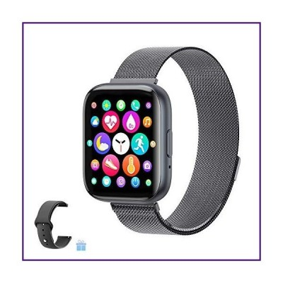 2021 Upgraded Smart Watch, Fitness Tracker with Heart Rate/Sleep/Steps Monitor Compatible for iPhone Samsung Android, Bluetooth Smartwatch f