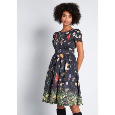 モドクロス ModCloth レディース ワンピース ワンピース・ドレス Moxie Medley Fit and Flare Dress black