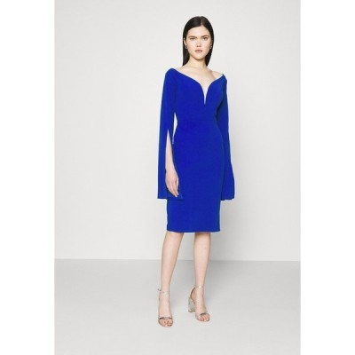 ヴァル ジー ワンピース レディース トップス AMELIA V PLUNGE MIDI DRESS - Day dress - electric blue