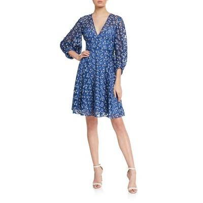 リラローズ レディース ワンピース トップス Floral-Embroidered Tulle Dress