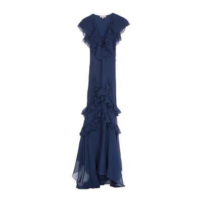 マイケル・コースコレクション MICHAEL KORS COLLECTION ロングワンピース&ドレス ダークブルー 2 シルク 100% ロングワ