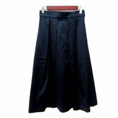 【中古】ジャーナルスタンダード JOURNAL STANDARD フレアスカート ギャザー ロング 38 紺 ネイビー /YI レディース