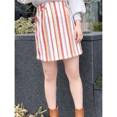 dazzlin キャンディストライプミニスカート