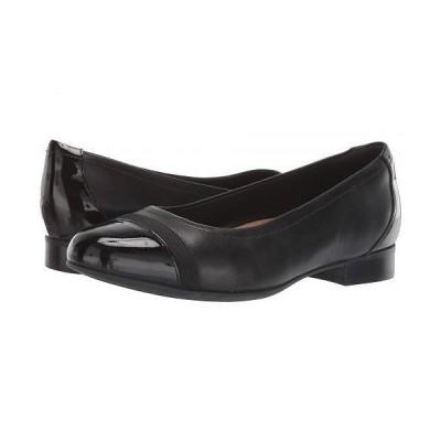 Clarks クラークス レディース 女性用 シューズ 靴 フラット Un Blush Cap - Black/No Bow
