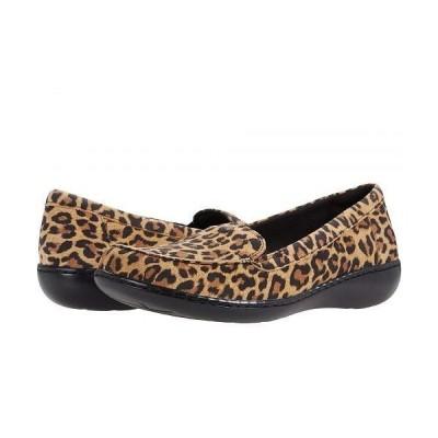 Clarks クラークス レディース 女性用 シューズ 靴 ローファー ボートシューズ Ashland Jam - Tan Leopard Suede