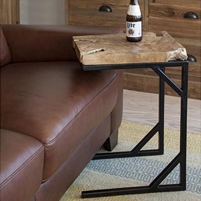 サイドテーブル 木製 おしゃれ ベッドサイドテーブル ソファサイドテーブル 天然木 アンティーク風