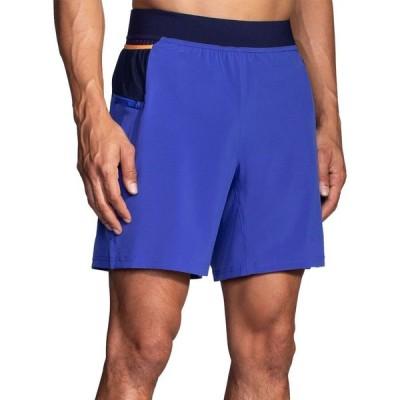 ブルックス Brooks メンズ ショートパンツ ボトムス・パンツ Sherpa 7'' 2-in-1 Shorts Amparo Blue