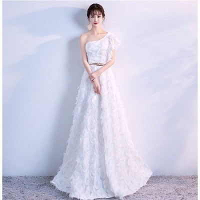 ウエディングドレス 安い ホワイト ロングドレス 結婚式 花嫁 ウエディングドレス aライン 二次会  パーティードレス 演奏会 フォーマルドレス サッシュベルト