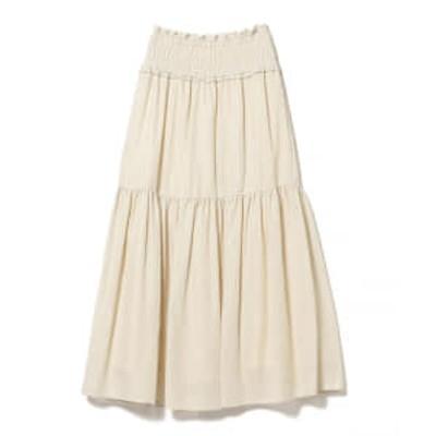 Ray BEAMS / メッシュ ティアード スカート