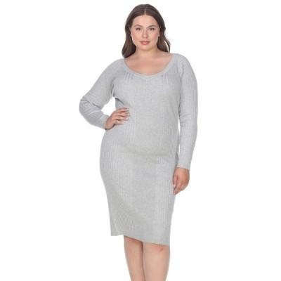 ホワイトマーク ワンピース トップス レディース Women's Plus Size Destiny Sweater Dress Grey