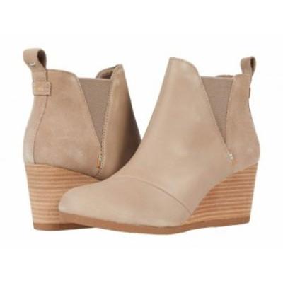 TOMS トムス レディース 女性用 シューズ 靴 ブーツ チェルシーブーツ アンクル Kelsey Taupe Grey Leather/Suede【送料無料】