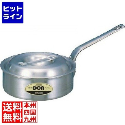 アルミDON片手浅型鍋 21cm ※ ガス火専用 AKT20021