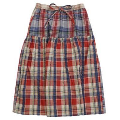 マドラス チェック フレア スカート 1847403L-4-PNK