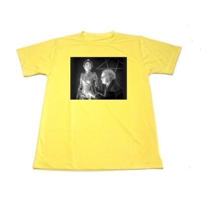 イエロー メトロポリス ドライTシャツ SF映画 名画   黄色
